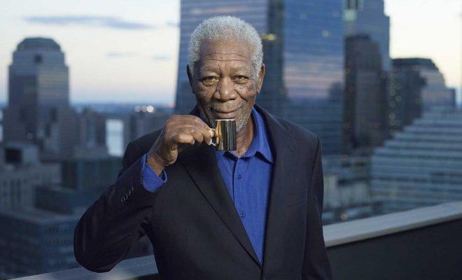 Skuespiller Morgan Freemann i reklamefilmen hvor han hevder at Evergood er den beste kaffen. Filmen «Butler» ble kåret til beste reklamefilm på kino i 2015. Foto: Joh. Johannson og Evergood