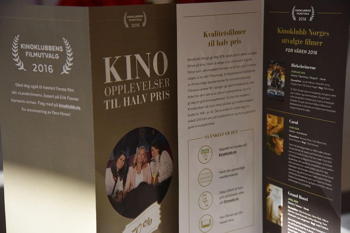 Reklamebrosjyrer for Kinoklubb Norge, også kalt Kinoklubben. Foto: John Berge, KINOMAGASINET ©
