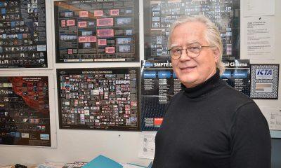 Rådgiver i kinoteknikk og design, Rolv Gjestland, i bransjeorganisasjonen Film & Kino. Foto: John Berge, KINOMAGASINET ©