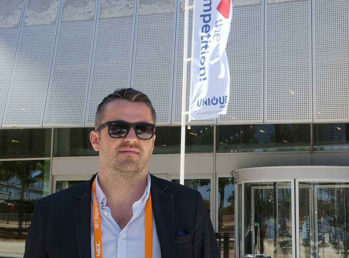 Ørjan Taule er leder for Unique Cinema Systems AS (UCS) i Norge. Her er han på plass i Barcelona i juni 2016. Foto: John Berge, KINOMAGASINET.no