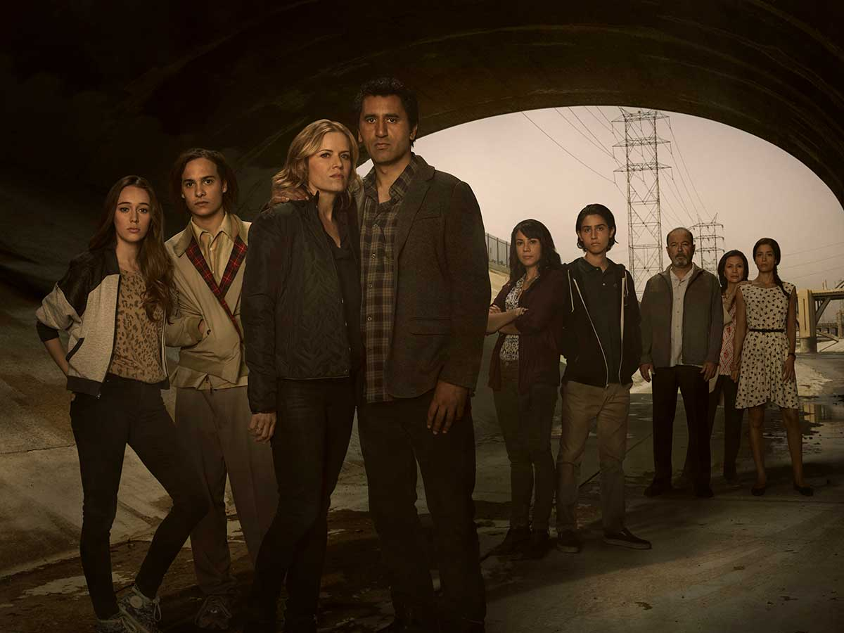 Hovedskuespillerne i sesong 1 av Fear The Walking Dead. Foto: AMC Studios