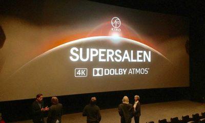 Supersalen hos SF KINO Lillestrøm består Dolby Atmos i kombinasjon med NCGs egenutviklede lydsystem AS2 og  Barco 4K-projeksjon. Foto: SF Kino