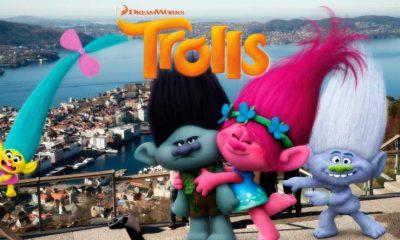 BERGENSTROLL: De nusselige trollene i Trolls er en av filmen som Bergen Kino viser i vinterferien på Fløyen i Bergen.