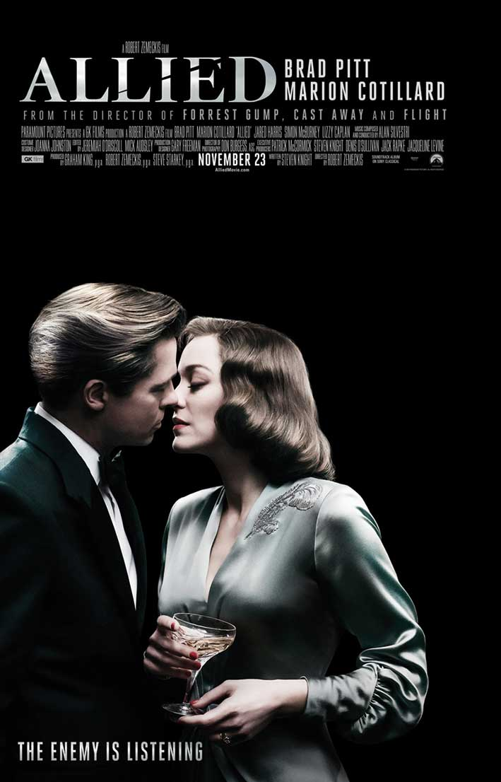 Filmplakat for Allied.