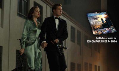 Marianne Beausejour (Marion Cotillard) og Max Vatan (Brad Pitt) i Allierte. Foto:Paramount Pictures  Saken er hentet fra KINOMAGASINET 7•2016 SOM DU KAN LESE DIGITALT NEDERST I ARTIKKELEN.