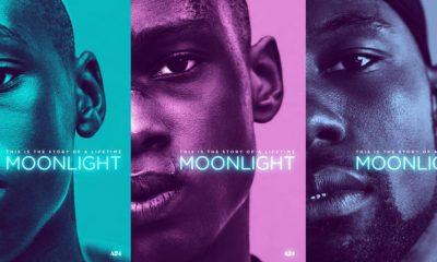 """Moonlight: Trevante Rhodes som Chiron / """"Black"""", Ashton Sanders som Teen Chiron og Alex Hibbert som Child Chiron / """"Little""""."""