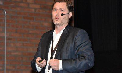Arild Kalkvik fra Trondheim Kino fortalte om hvordan de viser trailere. Foto: John Berge, KINOMAGASINET.