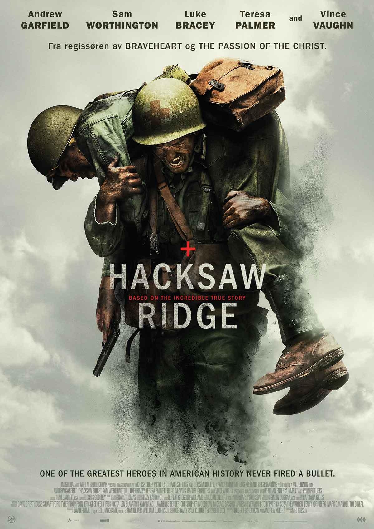 FILMPLAKAT: Hacksaw Ridge.