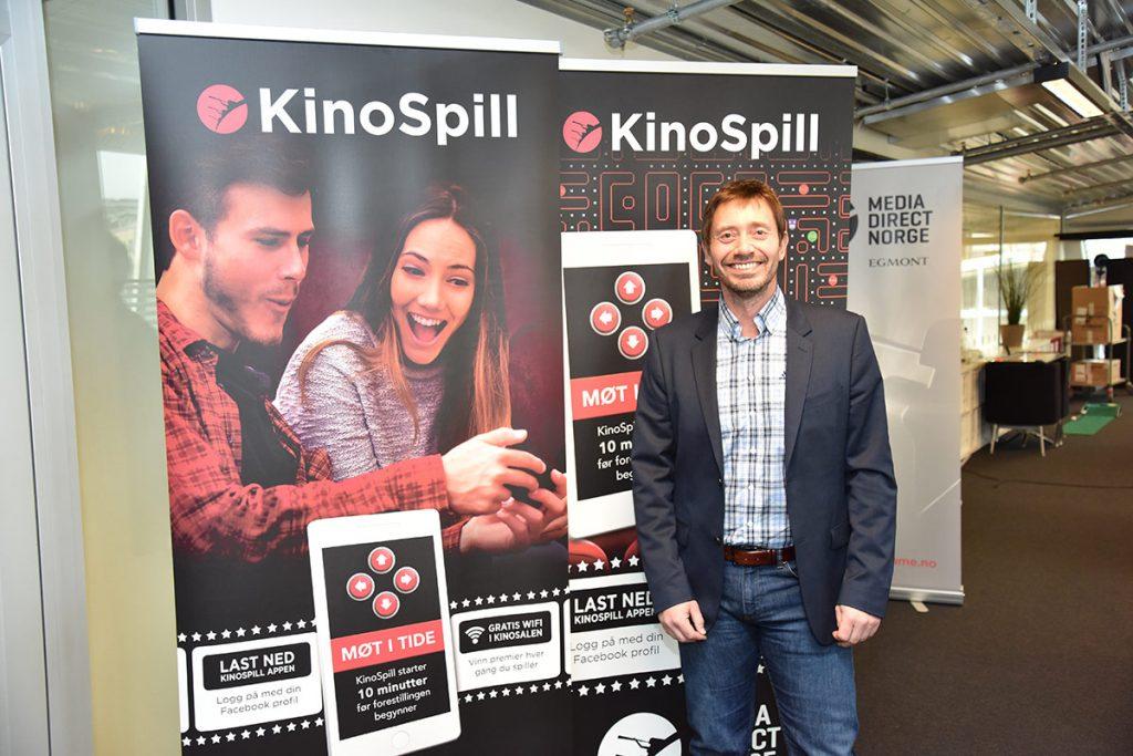 Kinospillet er allerede en stor suksess og blir videreutviklet i 2017 og skal tilbys flere kinoer, forteller Ronny Lieblein, adm. direktør i Media Direct Norge. Foto: John Berge, KINOMAGASINET.no ©