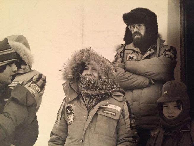 Carrie Fisher (midten) og Bjørn Jacobsen (t.h.). Foto: Privat.