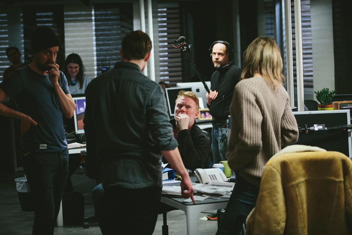 Regissør Stig Svendsen under innspillingen.
