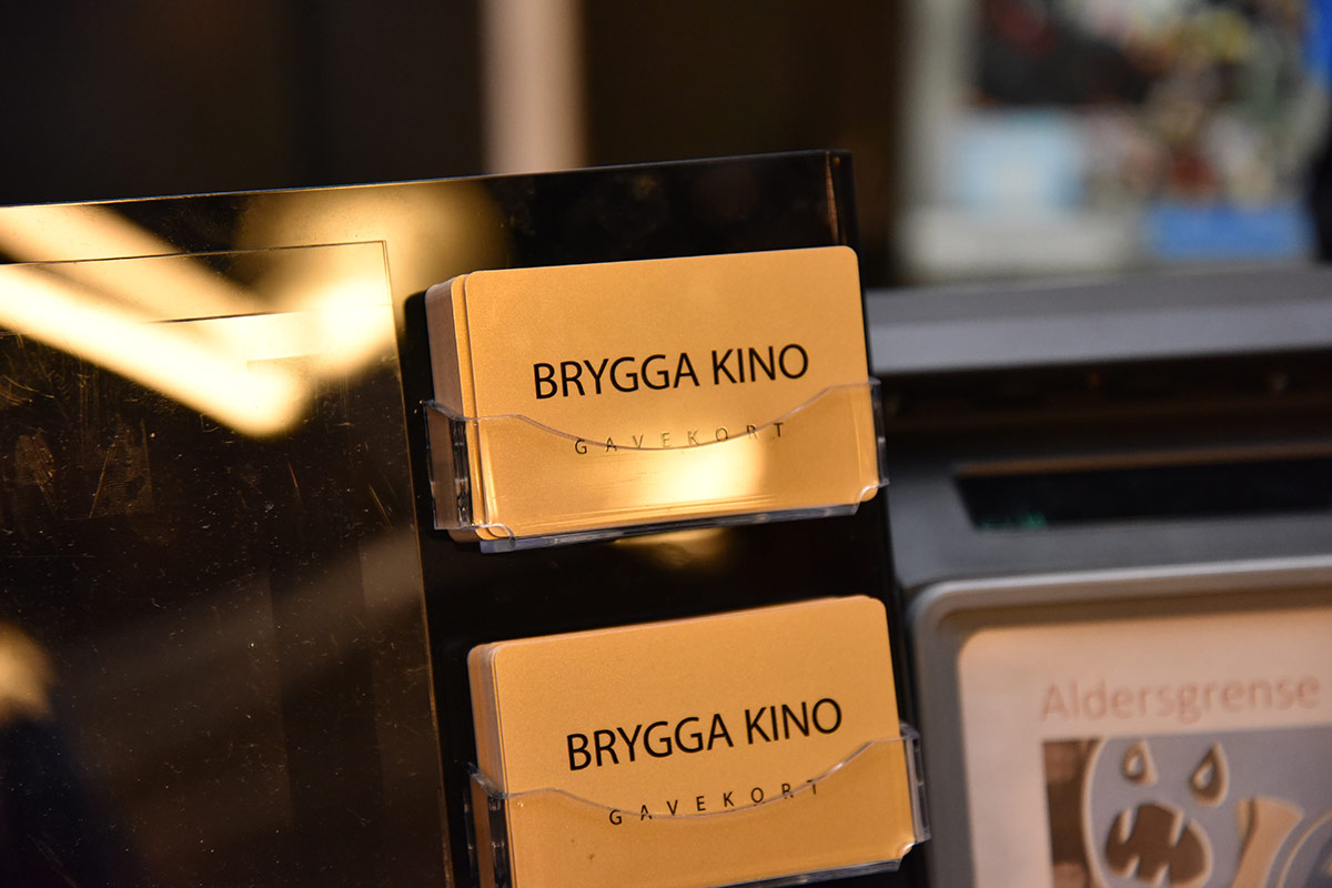 Gavekort med nykinoens logo var på plass fra dag én! Foto: John Berge, KINOMAGASINET.no ©