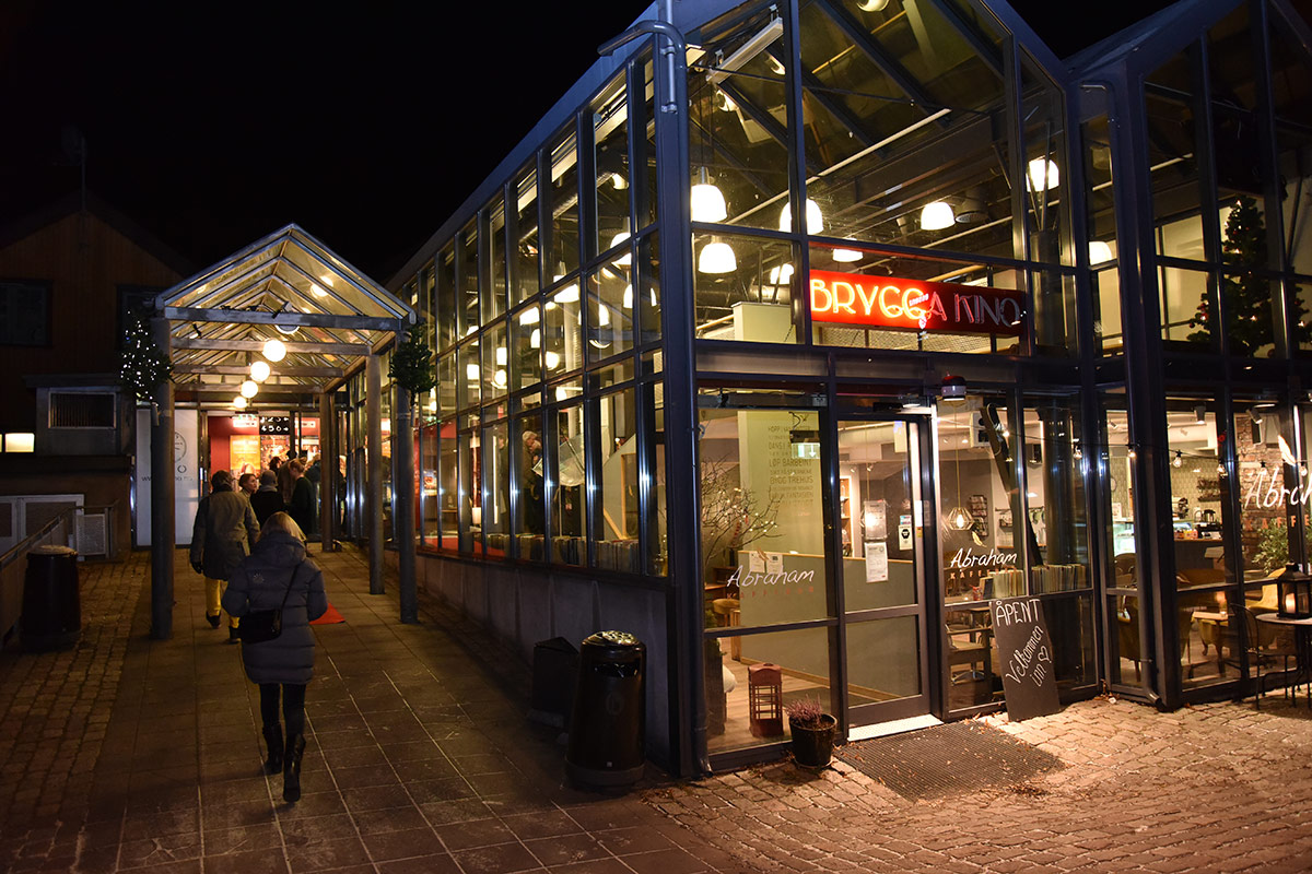 Fra inngangspartiet til Brygga Kino, torsdag 5. januar 2017. Foto: John Berge, KINOMAGASINET.no ©