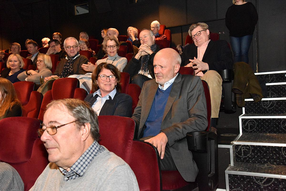 Styreleder Sigurd Stokke i Brygga Kino AS fikk velfortjent applaus. Foto: John Berge, KINOMAGASINET.no ©