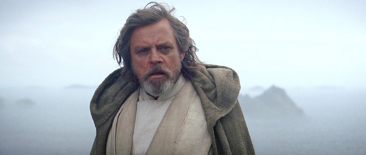 Luke Skywalker (Mark Hamill) i sluttscenen fra Star Wars: The Force Awakens.