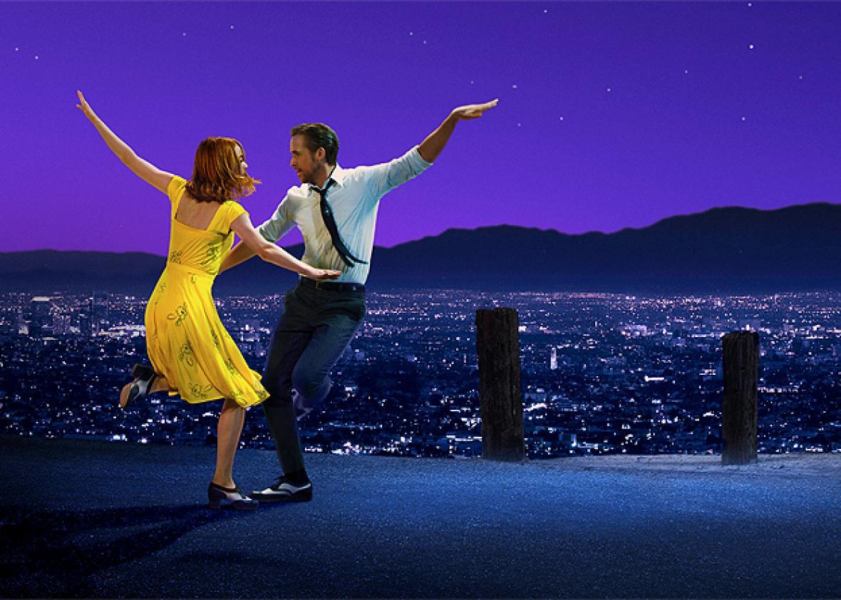 Emma Stone og Ryan Gosling i La La Land.