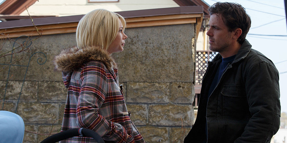 Randi (Michelle Williams) og Lee Chandler (Casey Affleck) i en scene fra Manchester by the Sea.