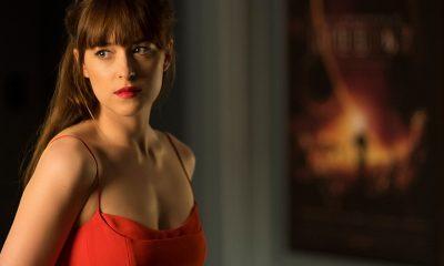 Anastasia (Dakota Johnson) i en scene fra Fifty Shades Darker.