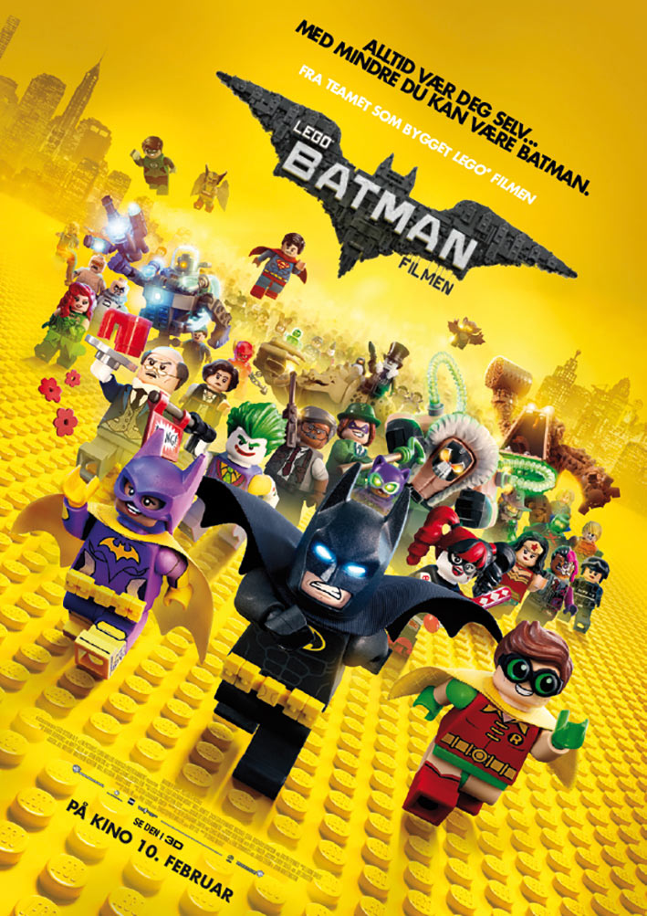 En av plakatene for Lego Batman-filmen.