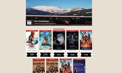Slik ser de nye nettsidene til Alvdal kino ut. (Skjermbilde).