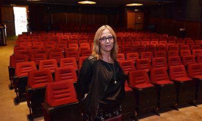 Edelh Ingebrigtsen inne i Nordkapp Kino og Kultursal. Foto: John Berge, KINOMAGASINET.no ©
