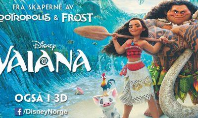 Norsk reklameplakat for Disneys 56. helaftens tegnefilm – Vaiana.