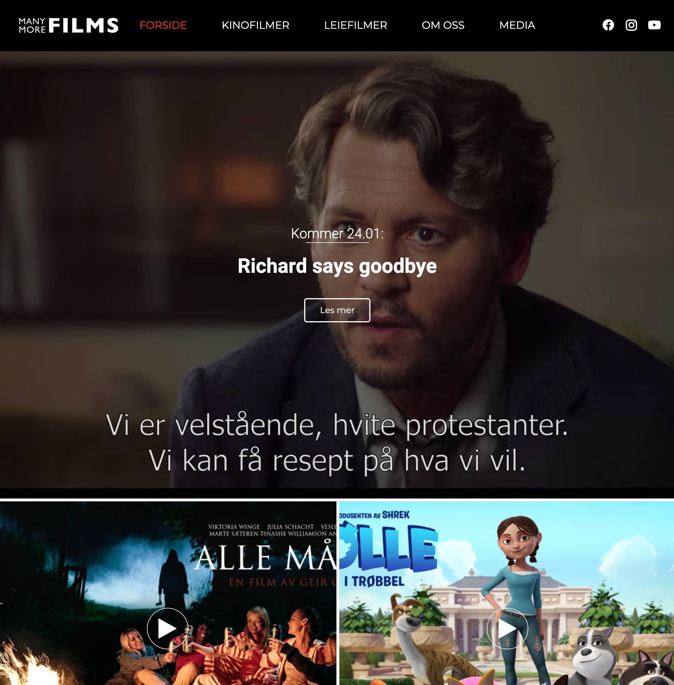 Manymore Films nettside